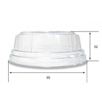 Couvercle bombé transparent (x155ml/230ml/265ml)