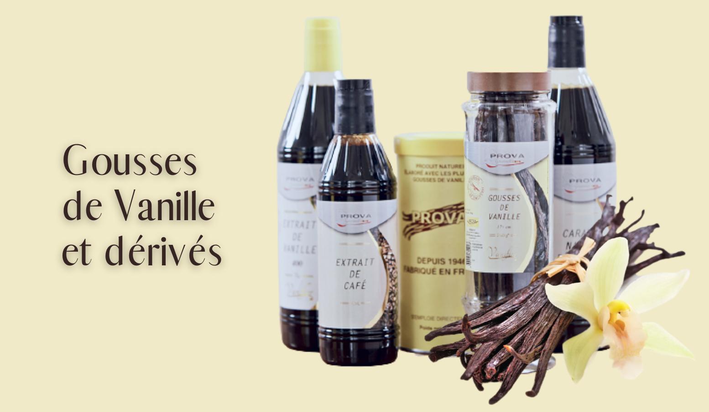 Gousses de vanille et dérivés